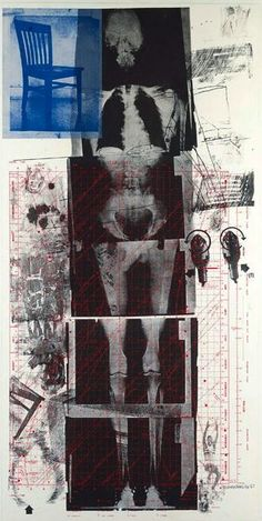 "Robert Rauschenberg: life-size X-rays of the artist's skeleton,"". From the exhibition:""Let the World In: Prints by Robert Rauschenberg From the National Gallery in Washington. Collage Kunst, Pop Art Collage, Collage Art Mixed Media, Robert Rauschenberg, Jasper Johns, Andy Warhol, Collages, Franz Kline, Modern Art"