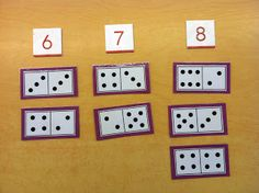 Byrd's Learning Tree: Domino Math Games- links to a freebie on TPT Kindergarten Math Games, Math Classroom, Teaching Math, Math Activities, Math Stations, Math Centers, Math Numbers, Decomposing Numbers, Learning Numbers