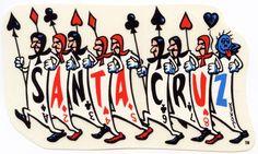 Santa Cruz Jeff Grosso Playing Cards Logo Sticker