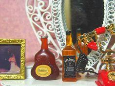 Miniature Toy  Hennessy Size: 1.7 cm(L) x 0.4 cm (W) x 3 cm (H) Whiskey Size: 0.8 cm(L) x 0.8 cm (W) x 4 cm (H)  Ebay: http://www.ebay.com/itm/152161021152?ssPageName=STRK:MESELX:IT&_trksid=p3984.m1555.l2648  Amazon: https://www.amazon.com/dp/B01LXW01BE  #pokemongo#olympic#Brazil#awesome#Pretty#toy#dollhouse#miniature#vintage#dollhouseminiature#Hennessy#Whiskey#Cognac#Wine#Alcohol#drink#XO