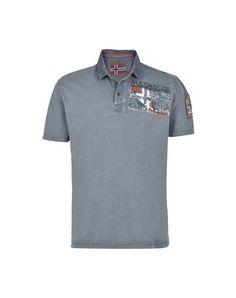 NAPAPIJRI Men's Polo shirt Military green XXL INT
