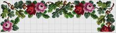 Cross Stitch Borders, Cross Stitch Rose, Cross Stitch Designs, Cross Stitch Embroidery, Cross Stitch Patterns, Brother Innovis, Vintage Cross Stitches, Small Rose, Little Designs