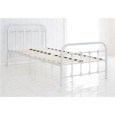 Vintage Style Metal Frame Single Bed - White | Kmart $99