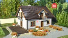 Projekt domu - Dom przy Alabastrowej 20 115.00m² | GALERIADOMOW.PL Modern Bungalow House, Attic House, Good House, Concept Home, Stone Houses, Home Fashion, Future House, Gazebo, House Plans