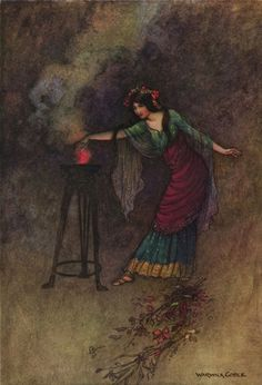 Warwick Goble - Medea  from the 1912 edition of The Complete Poetical Works of Geoffrey Chaucer