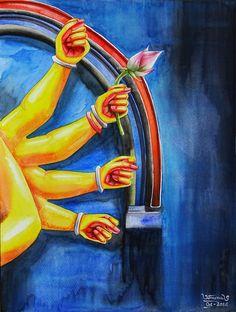 Durga Maa Paintings, Durga Painting, Indian Art Paintings, Bengali Art, Indian Contemporary Art, Clay Wall Art, Art Inspiration Drawing, Art Drawings For Kids, Krishna Art