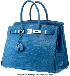 1dee632001f Hermes Special Order Horseshoe 35cm Matte Mykonos & Blue | Lot #58039 |  Heritage Auctions