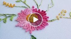 Wonderful Ribbon Embroidery Flowers by Hand Ideas. Enchanting Ribbon Embroidery Flowers by Hand Ideas. Hand Embroidery Videos, Hand Embroidery Flowers, Hand Embroidery Tutorial, Simple Embroidery, Hand Embroidery Stitches, Silk Ribbon Embroidery, Embroidery For Beginners, Hand Embroidery Designs, Sewing For Beginners