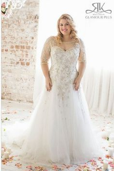 31 Jaw-Dropping Plus-Size Wedding Dresses : Acacia, Roz La Kelin Glamour Plus Collection Plus Size Wedding Gowns, 2015 Wedding Dresses, Wedding Attire, Plus Size Dresses, Bridal Dresses, Dresses 2016, Dresses Dresses, Size 20 Wedding Dress, Wedding Outfits