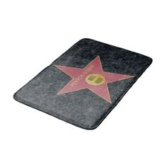 Hollywood Star #Personalized #Bath Mat #homedecor