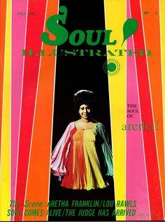 Aretha Franklin sur la couverture de la Soul Illustrated, automne 1968.