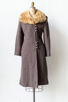 vintage 1930s wool coat with blonde mink | Noble Carlsdotter Coat