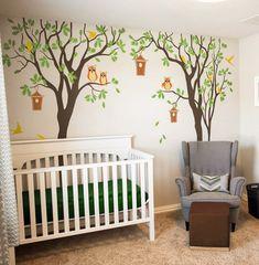Removable Sticker Baby Nursery Tree Wall Decal By TheOliviaDesign ·  EulenbaumschuleKinderzimmer WandtattoosBaum ...