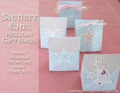 free holiday gift bag template and tutorial
