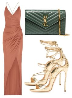 """Untitled #3315"" by evalentina92 ❤ liked on Polyvore featuring Balmain, Dsquared2 and Yves Saint Laurent"
