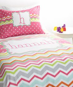 Personalized Twin Duvet Set by TickledPinkNOLA on Etsy