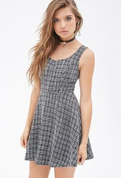 Tweed Fit & Flare Dress from FOREVER 21 on shop.CatalogSpree.com, your personal digital mall.