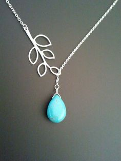Hey, I found this really awesome Etsy listing at https://www.etsy.com/listing/90793284/leaves-with-turquoise-necklace-pendant