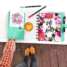 Tombow Dual Brush Pens, The Happy Planner & Coffee love