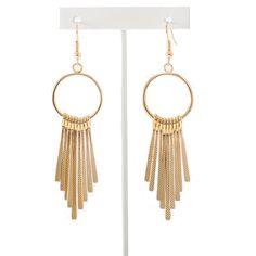Boucles d'oreilles cercle métal doré - http://milena-moda.com/