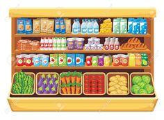 Supermercado Ilustraciones Vectoriales, Clip Art Vectorizado Libre De Derechos. Pic 22962093.