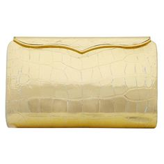 Preowned Lana Marks Vintage Clutch Bag ($1,895) ❤ liked on Polyvore featuring bags, handbags, clutches, multiple, beige leather purse, vintage leather purse, leather clutches, beige purse and genuine leather purse