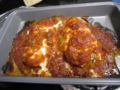 Baked Salsa Chicken Breast-this was a healthy yummy dish that went well with the parmesan baked tomatoes I also got from pinterest!