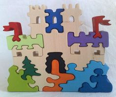 ¡Qué bonito castillo puzzlero para niños!