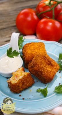Fried Pimento Cheese Bites - This Southern classic just got a little bit better. Ooey gooey and rich, with a crunchy exterior, and just a bit of spice to them.  Perfect for your next cocktail party.  Step-by-step photos.
