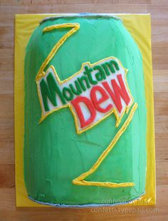 Mtn dew can cake