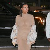 Kim Kardashian Wore a Totally Sheer Dress to a Friend's Wedding Because of Course
