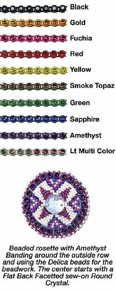 the crystal banding is a great addition to your beadwork, it definitely brings the sparkle!