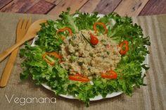 Salada de Grão de Bico com Maionese Vegana