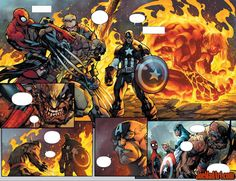 Savage Wolverine issue #6 double page 6 and page 7 - Joe Madureira (Penciler)…