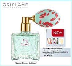 New product 'Live In Colour Eau de Parfum' added to Orinet independent Oriflame Consultants! - - 33964 - Press the stylish bottle pump of Live in Colour Eau de Parfum, and immerse yourself in an uplifting Floral Fru… Bomb Cosmetics, Oriflame Cosmetics, Deodorant, Oriflame Beauty Products, Honey Shampoo, Perfume Making, Perfume Oils, Perfume Fragrance, New Fragrances