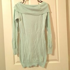 Sale Light Blue Sweater Dress
