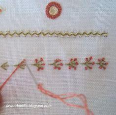 Lavanda e Lillà; loving this type of fly stitch