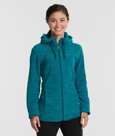 Charles River Apparel 5697 Women's Heron Hoodie Full Zip Sweatshirt Blue Steel