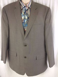 MICHAEL Michael Kors Sport Coat 46R Brown Wool 2 Button Vented Blazer Jacket #MichaelKors #TwoButton