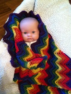 Rainbow baby blanket for our rainbow
