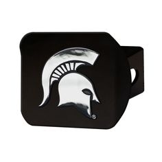 Michigan State Spartans Black Metal Hitch Cover
