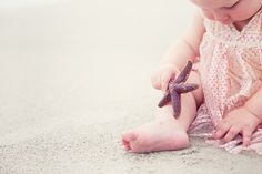Beach Baby - I like the idea of giving baby a shell or starfish to keep him/her occupied. Burns Photography, Beach Photography, Children Photography, Newborn Photography, Family Photography, Photography Blogs, Iphone Photography, Photography Tutorials, Portrait Photography