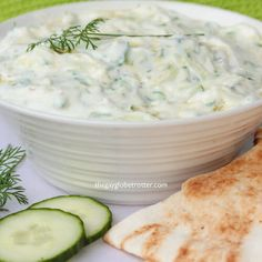 This authentic Greek tzatziki recipe is easy to make and pairs perfectly with just about any dipper! I love using homemade tzatziki sauce to dip pita bread, veggies, or added to Greek gyros! Tzatziki Sauce Recipe Greek Yogurt, Homemade Tzatziki Sauce, Tzatziki Recipes, Greek Yogurt Recipes, Healthy Snacks, Healthy Recipes, Salad Dressing Recipes, Salad Recipes, Healthy Groceries
