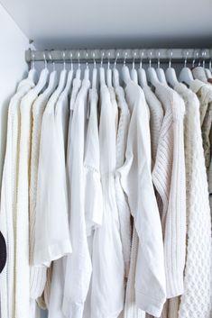 Interior Ankleidezimmer Kleiderschrank offenes System Einrichtung weiß All white