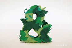Leafy felt ampersand made by Laura Hulme. http://www.fredanderic.com