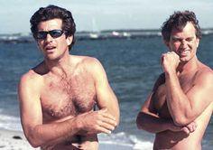 John Kennedy Jr. and cousin Robert Kennedy Jr.
