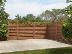 Our decorative fence panel with integral diamond lattice trellis not only looks great but supports climbing plants. The width of the fence is to support those with smaller gardens and is unlike anything on the market. The timber panels are pressure treated which means we can offer a 10 year guarantee against rot and fungal decay with no need for you to retreat it in that time.