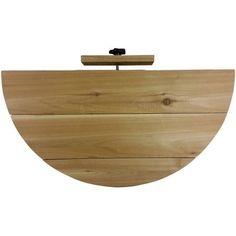 TRiCC RLDLWTHR12814 Deck Ledge Wood, 1/2 Round Top, 28 inchL x 14 inchW, Brown