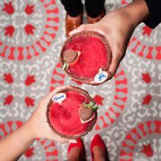 Sweeten this #ValentinesDay with Sauza's Chocolate-Covered Strawberry #Margarita!