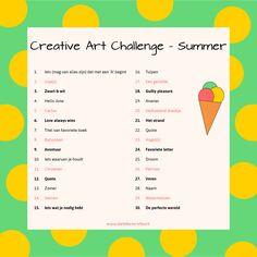 Creative art Challenge - Summer #challenge #30-days #dutch #creativechallenge